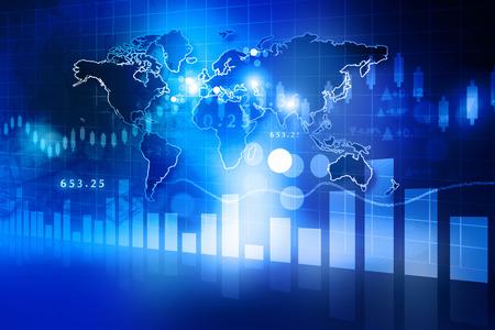 주식 시장 차트의 디지털 디자인