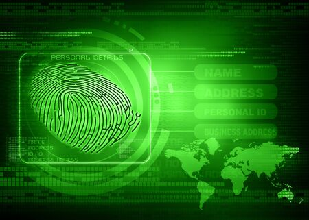 forensic science: New technology of Thumb impression , finger print identity background