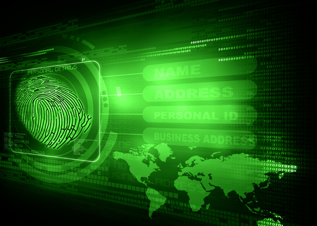 New technology of Thumb impression , finger print identity background