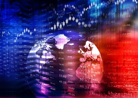 Digital design of Stock market chart