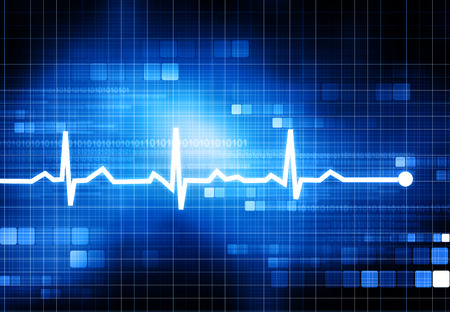 oscillate: Electrocardiogram Stock Photo