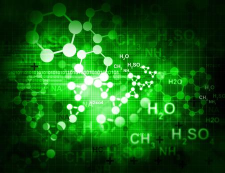 Las moléculas de fondo Foto de archivo - 36955970