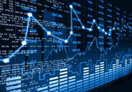 Beurs grafiek Stockfoto