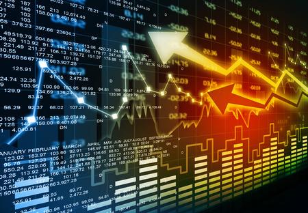 Stock market chart