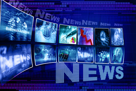 Business news background