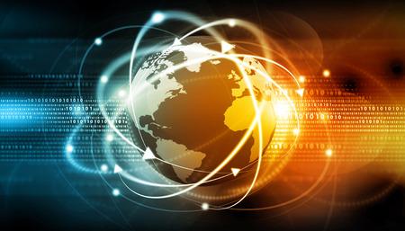 Global communication background Standard-Bild