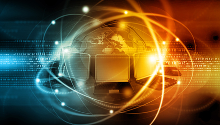 Global  internet connection background Stock Photo