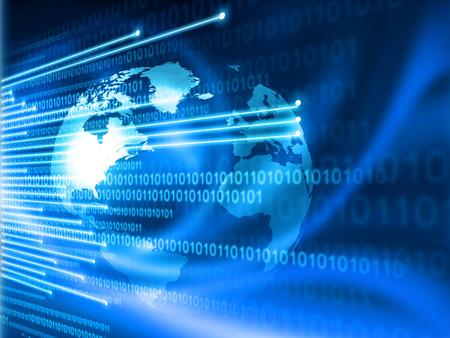 グローバルなインターネット技術の概念 写真素材