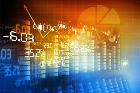Financiële achtergrond, de beurs grafiek