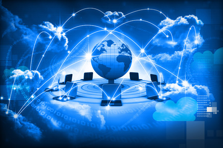 Cloud-Computing-Konzept, die globale Computer-Netzwerk