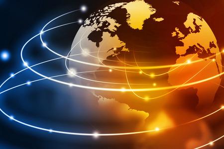 아름 다운 추상적 인 배경에 글로벌 네트워킹