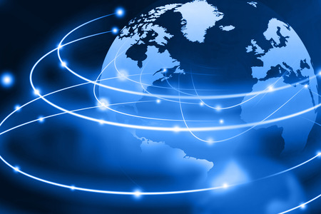 world culture: Global networking on beautiful abstract background