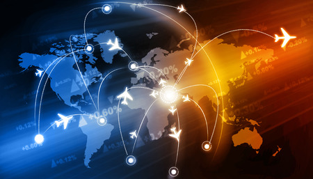logistics world: Global travel network