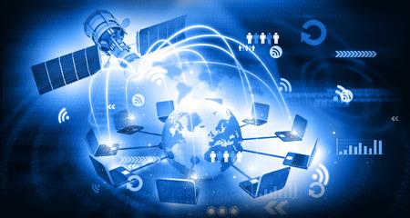 global satellite telecommunication technology 스톡 콘텐츠