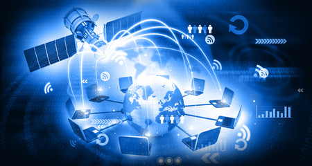 global satellite telecommunication technology Foto de archivo