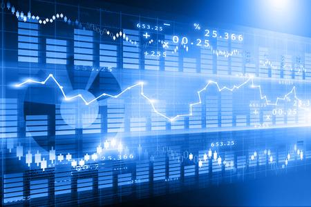 de beurs grafiek, Financiële achtergrond Stockfoto