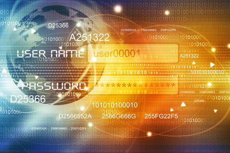breach: Global Internet concept background Stock Photo