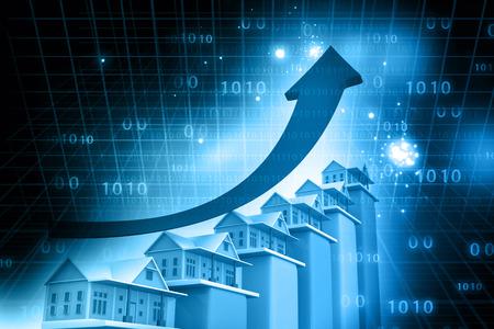 Immobilien Wachstums Warenkorb Standard-Bild - 37926876