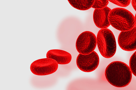 Glóbulos rojos, streaming de células sanguíneas humanas Foto de archivo - 38437154