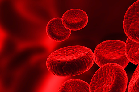 Rode bloedcellen, streaming van menselijke bloedcellen Stockfoto - 38437157