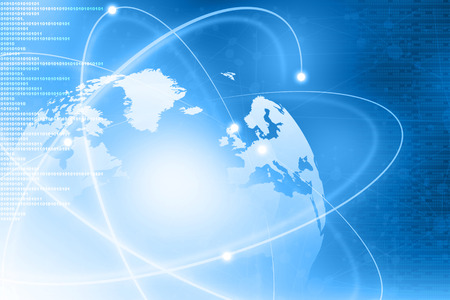 worldwide website: Futuristic background of Global business network, internet, Globalization concept