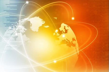 Futuristischer Hintergrund des Global Business Network, Internet, Globalisierung-Konzept Standard-Bild - 38437006