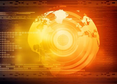 technological: Hi-tech technological background