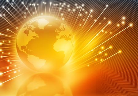 fibra óptica: La globalización de la fibra óptica, globo con fibra óptica