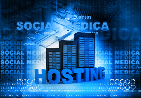 socialization: Web hosting  and internet communication concept