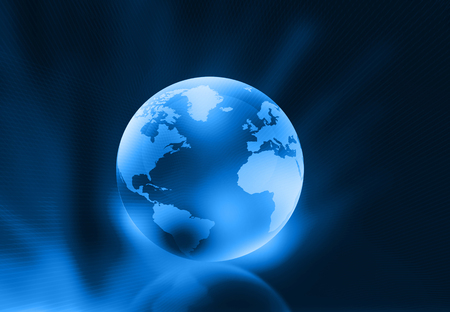 realist: 3d render of globe