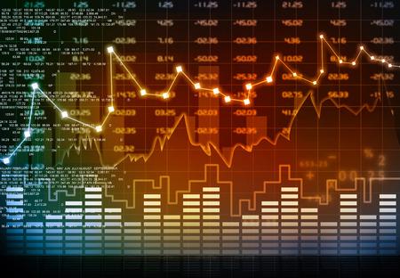 Börsen-Chart Standard-Bild - 39170670