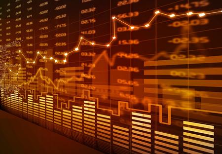 Börsen-Chart Standard-Bild - 39170671