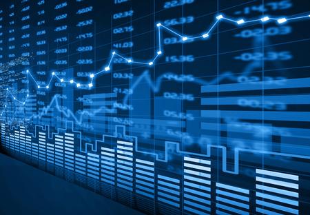 Börsen-Chart Standard-Bild - 39170672