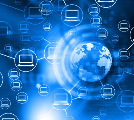 computer network , abstract background Standard-Bild