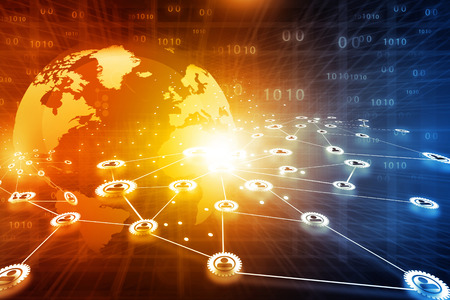 hombres ejecutivos: El mejor diseño del concepto de red de negocios global