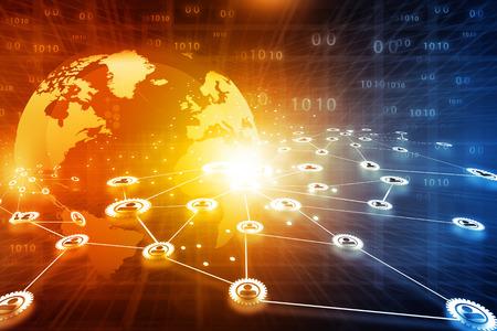 Best design of  global business network concept Archivio Fotografico