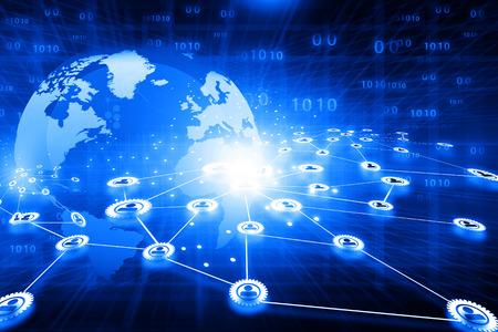 Best design of  global business network concept Stockfoto