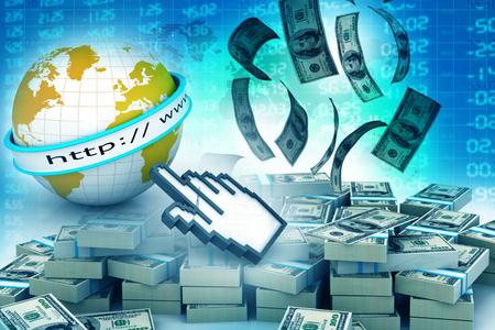 earn money online: Make money online concept