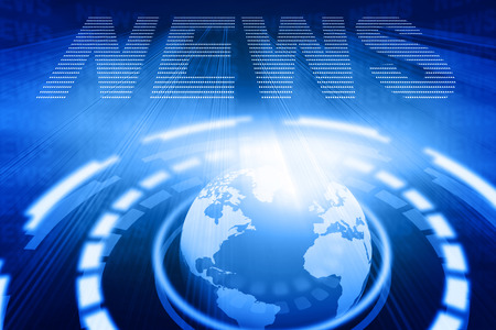 news background: word News on abstract global background Stock Photo