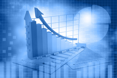 abstract wallpaper: Business growth chart  background