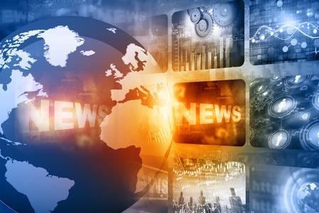 Beste ontwerp van Global nieuws Stockfoto