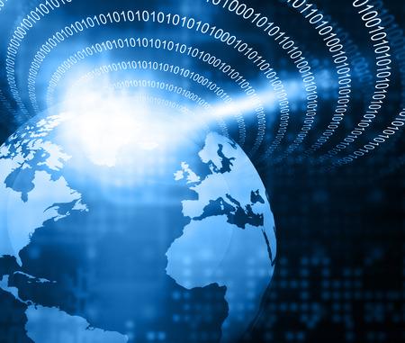 digital world: Digital image of binary world