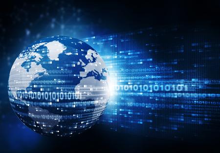 Hi-tech technological background