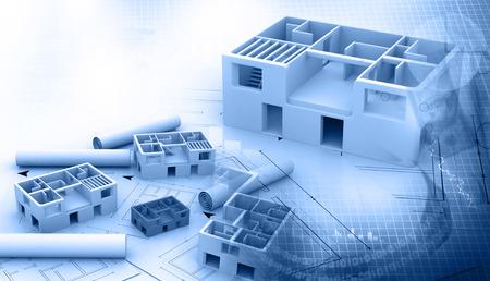 건축 프로젝트의 청사진 스톡 콘텐츠