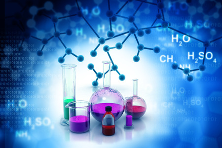 chemistry formula: Chemistry laboratory or research Stock Photo