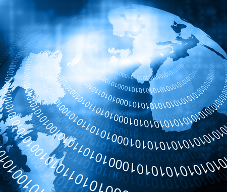 world of technology: Digital image of binary world