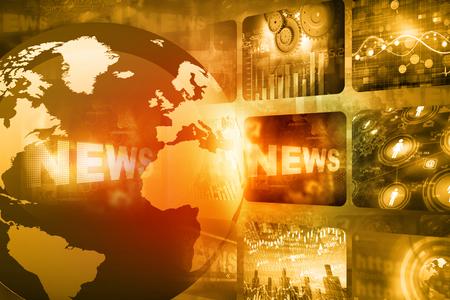 Beste ontwerp van Global nieuws Stockfoto - 40899951