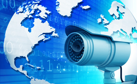 Surveillance camera with digital world