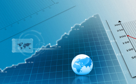 Börsen-Chart Standard-Bild - 41806453