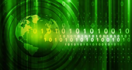 digital world: Hi-tech technological background
